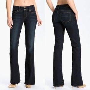 """PAIGE Dark Hidden Hills Stretch Bootcut Jeans 28"""""""